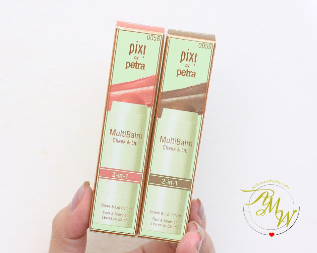 a photo of Pixi By Petra MultiBalm 2-in-1 Cheek & Lip shades 58 Baby Petal and 59 Cocoa