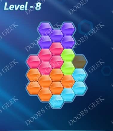 Block! Hexa Puzzle [6 Mania] Level 8 Solution, Cheats, Walkthrough for android, iphone, ipad, ipod