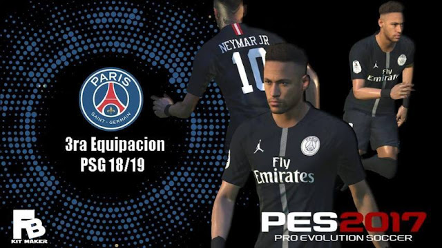 Paris Saint-Germain Third Kit 18/19 - PES 2017 - CariTauGame
