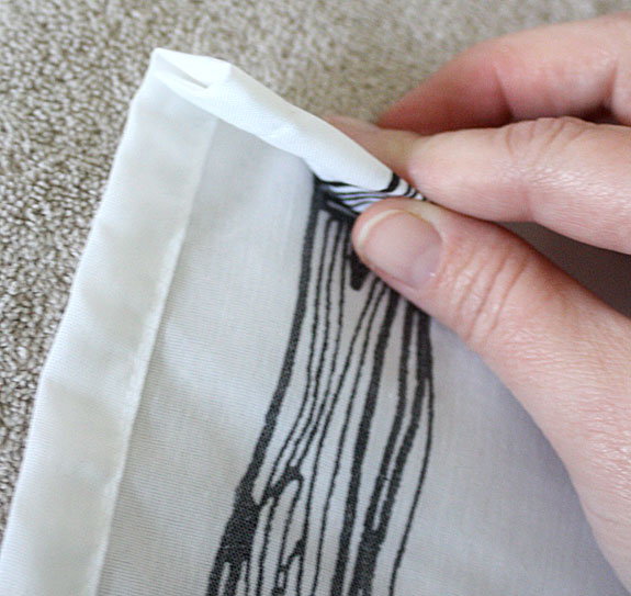 hem curtains, drapes, drapery, curtain, IKEA, how to, sewing, tutorial, DIY, free