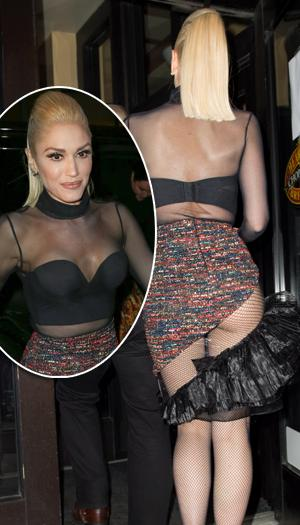What Cheek Gwen Stefani Shows Too Much In Outfit Ny