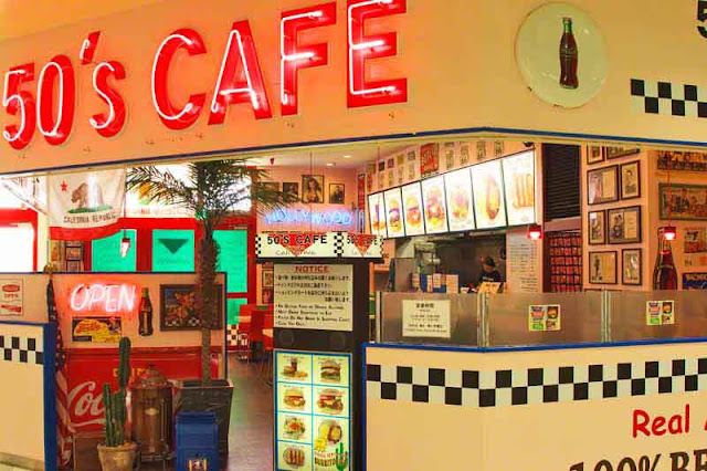 50's Cafe, interior, front counter