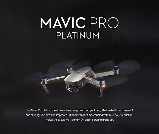 Coupon DJI Mavic Pro Platinum Foldable RC Quadcopter - RTF