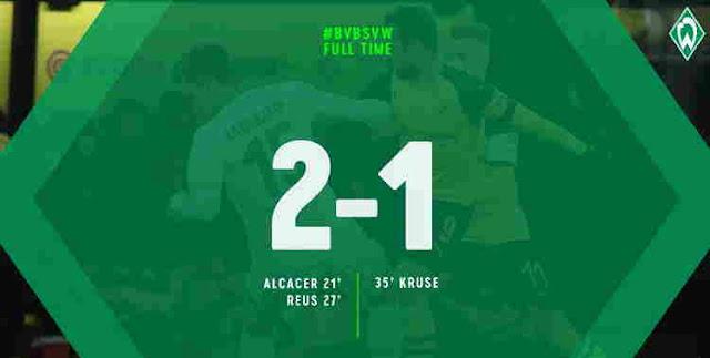 Replay Gol Dortmund vs Werder Bremen Skor Akhir 2-1