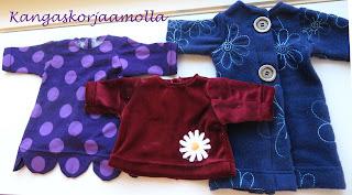 Baby Born nukelle vaatteita