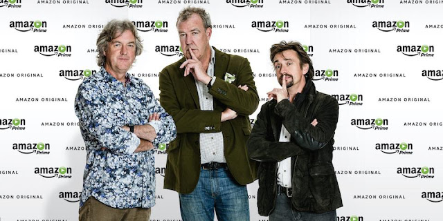 amazon prime sign top gear 39 s jeremy clarkson richard hammond and james may for new show car. Black Bedroom Furniture Sets. Home Design Ideas