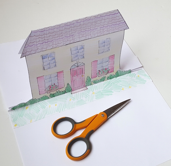 Art With Kids House Pop Up Card Instructions