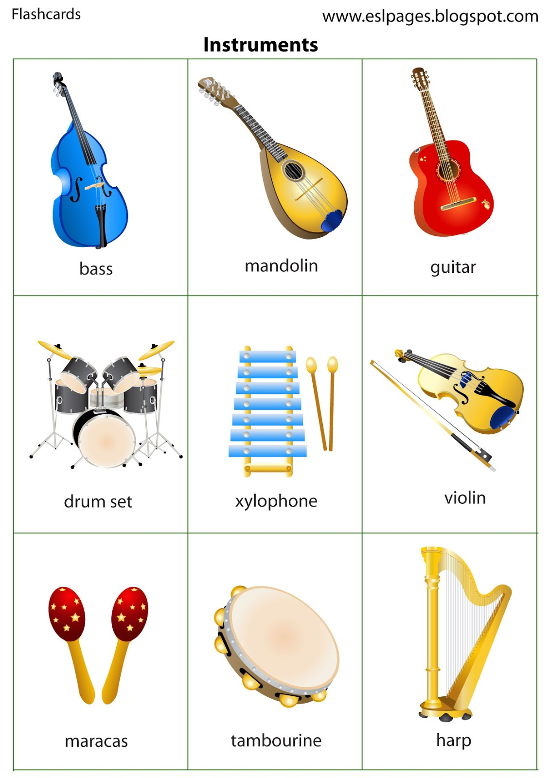 Esl Pages Instruments