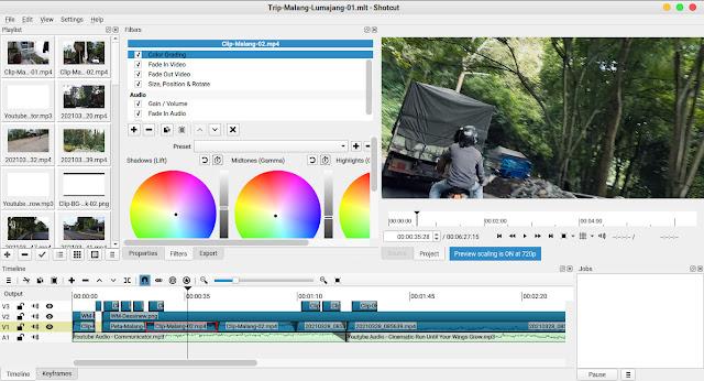 My Experience Using Shotcut video editor Desainew