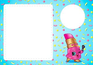 Para hacer invitaciones, tarjetas, marcos de fotos o etiquetas, para imprimir gratis de Shopkins.