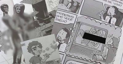 Filipe Barros. Londrina sem Gênero. DENÚNCIA: Revista PORNOGRÁFICA sendo distribuída para crianças de 14 ANOS nas ESCOLAS.