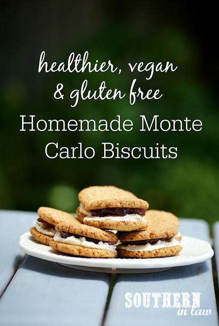 Healthy Homemade Monte Carlo Biscuits Recipe - Arnotts Copycat Biscuits, low fat, gluten free, healthy, vegan