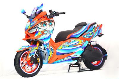 Motor pemenang kelas Xmax di semifinal CustoMAXI Bandung