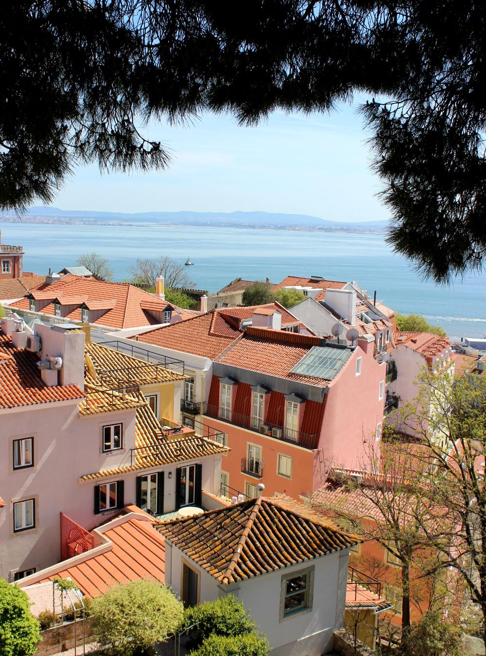 Castelo de Sao Jorge Lissabon Lisbon View Castle Schloss