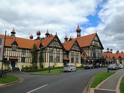 Large elizabethan-style building.