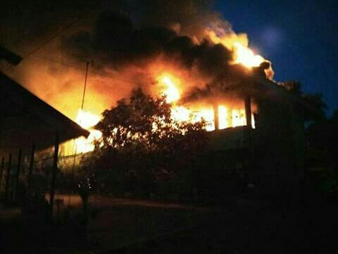 SDN Jawa 5 Martapura Terbakar