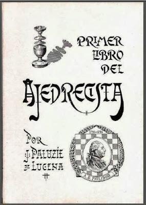 Portada del Primer Libro del Ajedrecista, de José Paluzíe