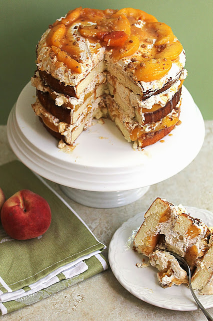 peach cobbler shortcake
