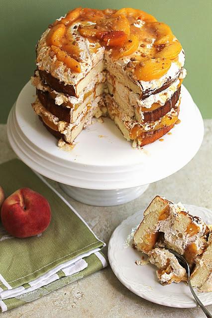 peach+cobbler+cake+3 - Peach Cobbler Shortcake Cake