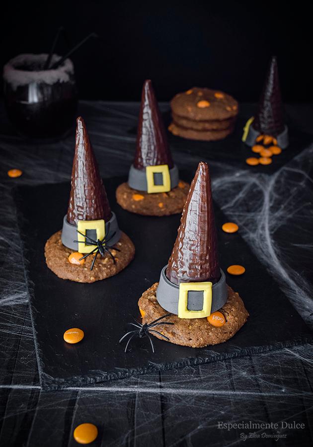 sombrero de bruja con sorpresa receta con lacasitos para halloween