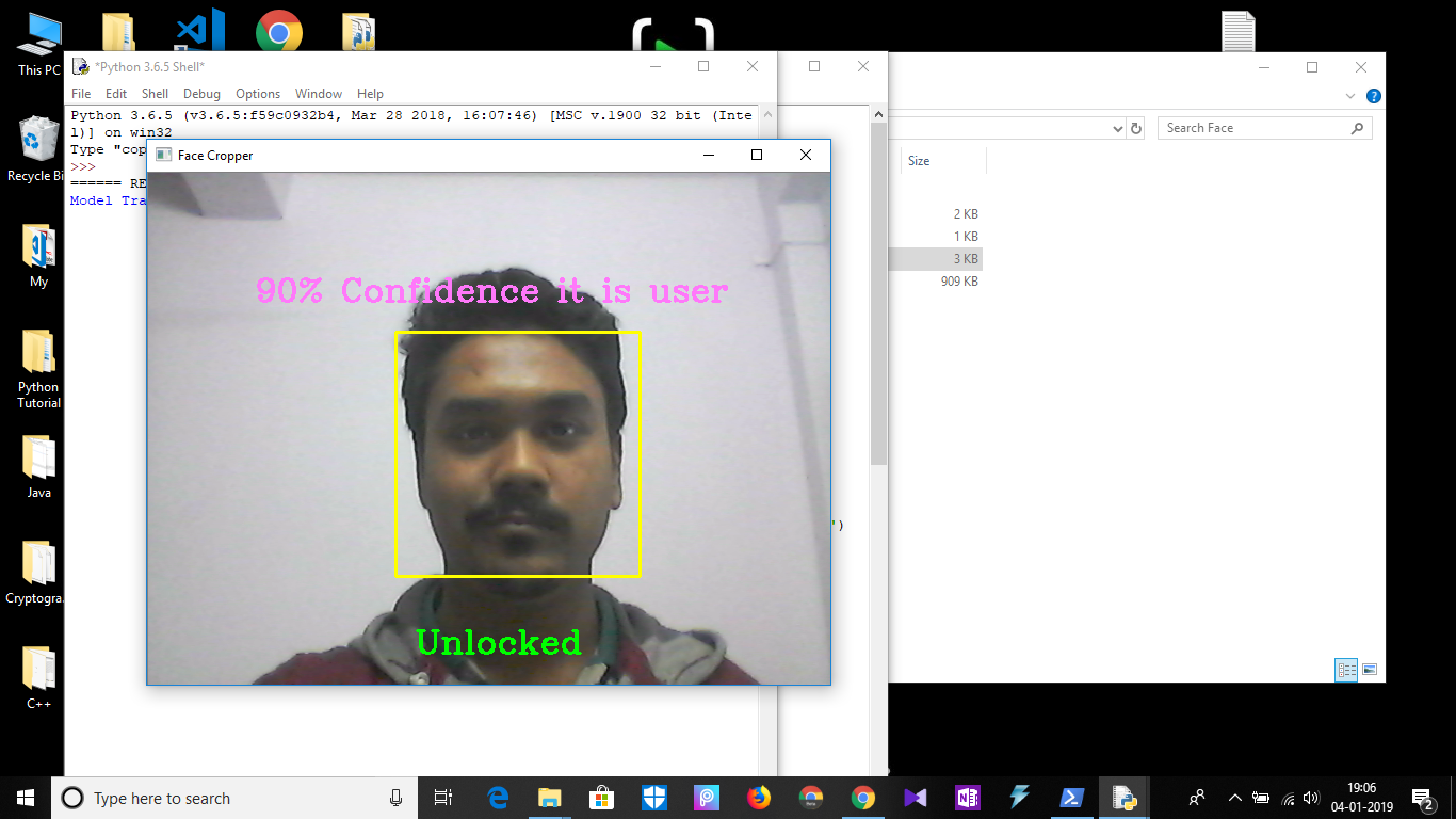 facial recognition using open