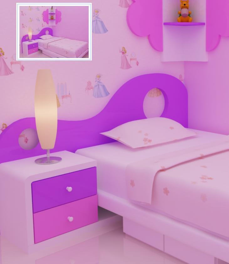 JASA INTERIOR EKSTERIOR 3D Jasa desain kamar tidur anak cewek