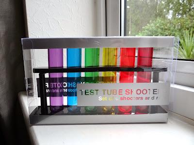 test tube shot glasses, multi colour shot glasses, Christmas shot glasses