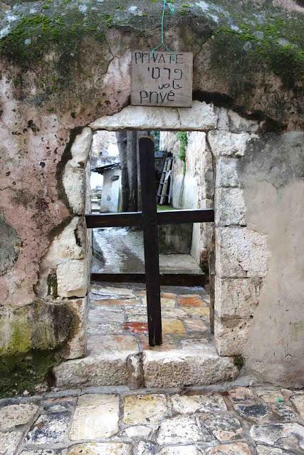 Entrée privée du village éthiopien de Jérusalem
