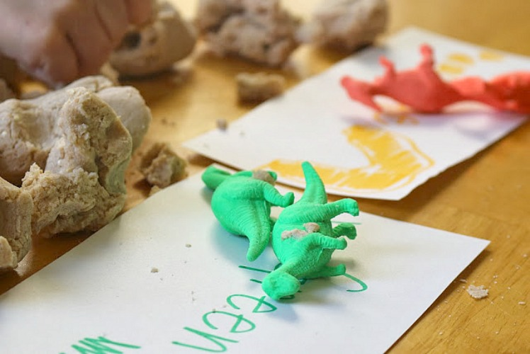 Play Dough Dinosaur Activity