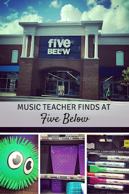 Music teacher finds at Five Below: Great buys to help you organize and teach in your music room!
