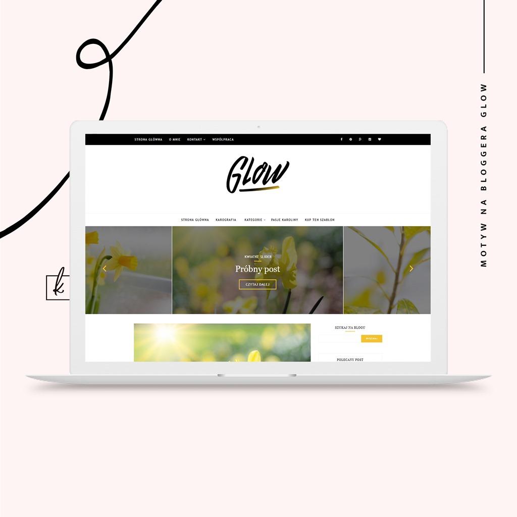 Szablon na bloggera GLOW już do kupienia!