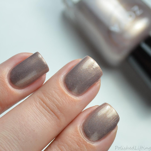tan metallic nail polish