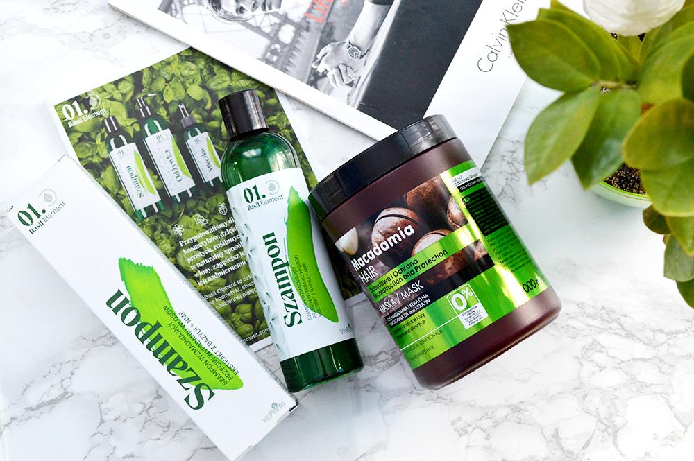 szampon przeciw wypadaniu włosów bazylia vis plantis maska dr sante