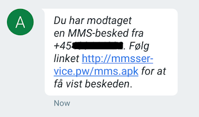 Malicious SMS received from unknown contact