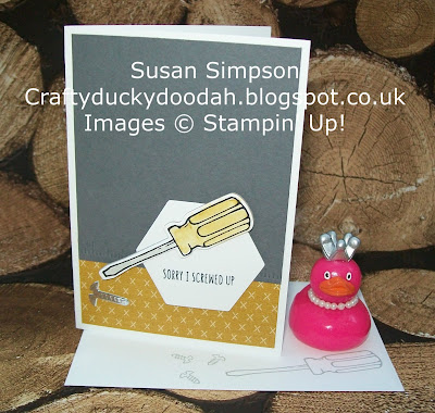 Stampin' Up! UK Independent Demonstrator Susan Simpson, Craftyduckydoodah!, Nailed It, Build It Framelits, Supplies available 24/7, Coffee & Cards Project February 2017,