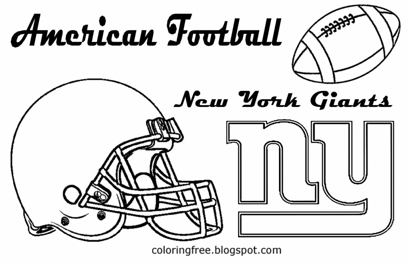 free printable new york giants coloring pages