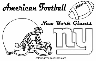 New York Giants printable East American football drawing pictures for children USA sports coloring