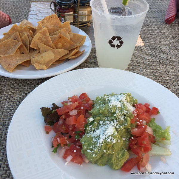 margarita and guacamole at pool cafe Villa La Estancia in Nuevo Vallarta, Mexico