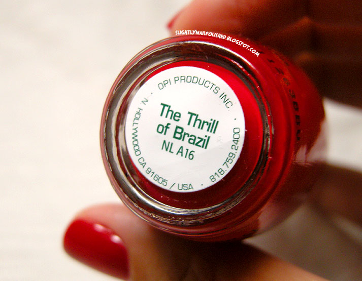 Slightly Nail Polished Swatch Amp Review Opi The Thrill