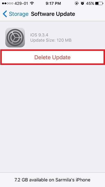 So if you dont want install an update then there is way to delete or remove automatically downloaded software update from your iPhone, iPad and iPod touch. Follow this simple steps on how to delete a software update from your iPhone, iPad or iPod Touch.