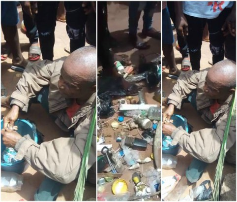 Man Caught While Planting Charms In His Brother's Compound