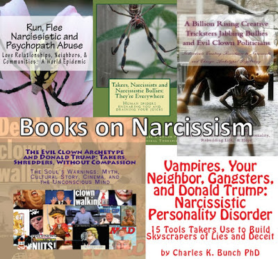 Political Psychopaths and Donald Trump psychopath bully narcissist books by Charles K Bunch phd at Amazon.com