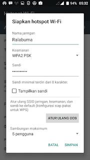 cara membuat hotspot di android