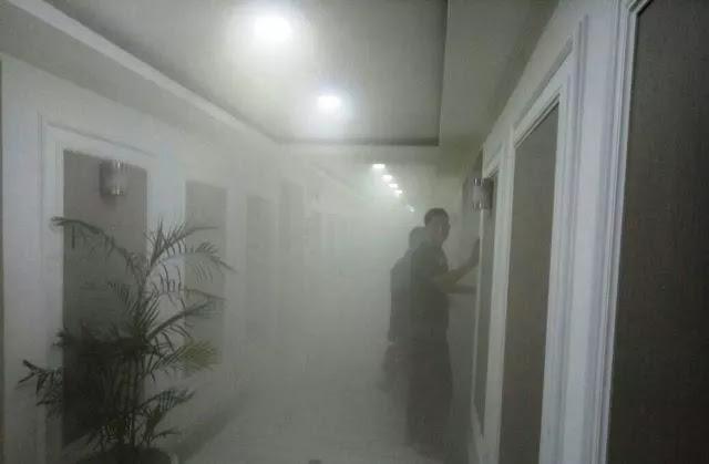 Kebakaran di gedung dpr ri