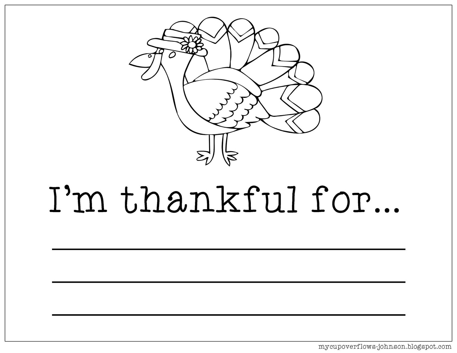 I'm Thankful Coloring Page – Children's Ministry Deals | 1237x1600