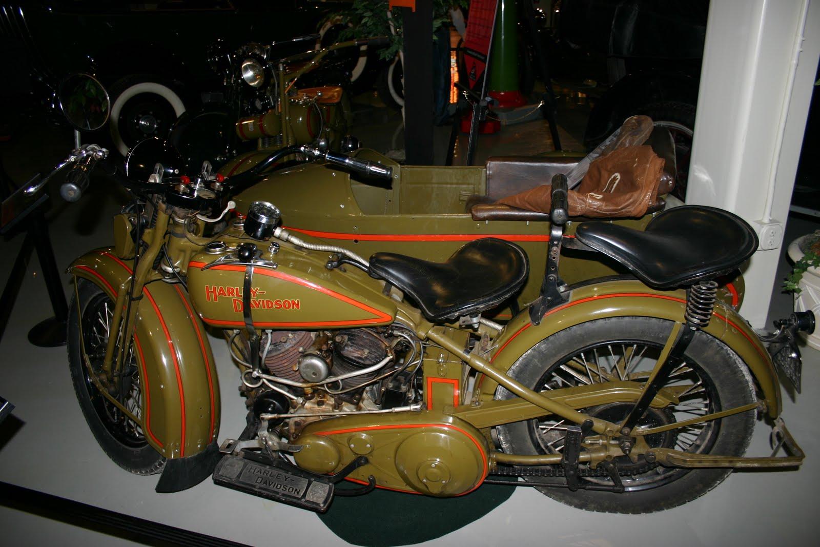 oldmotodude: 1931 harley-davidson vl with sidecar-- studebaker