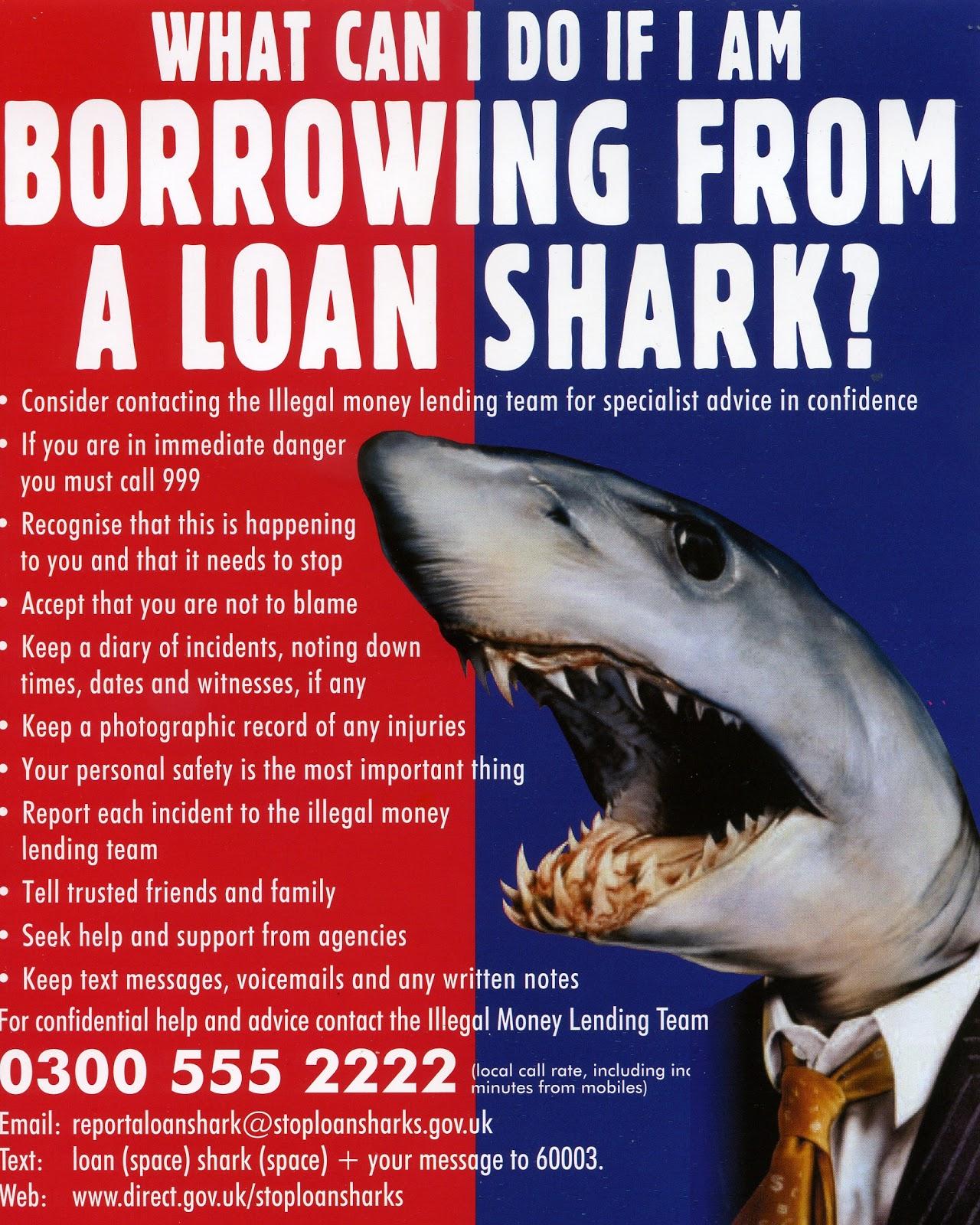 Neighbourhood Management: What can you do if borrowing from a loan shark?