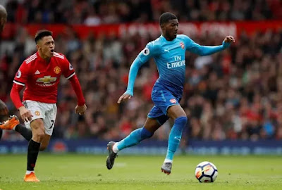 Ainsley Maitland-Niles against Man Utd