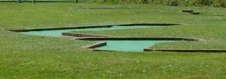 Minigolf course at the Recreation Ground in Stratford-upon-Avon, Warwickshire