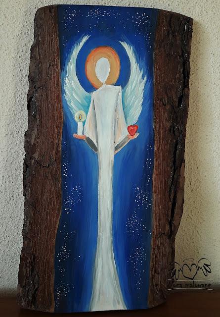 Anioł niosący światło i miłość
